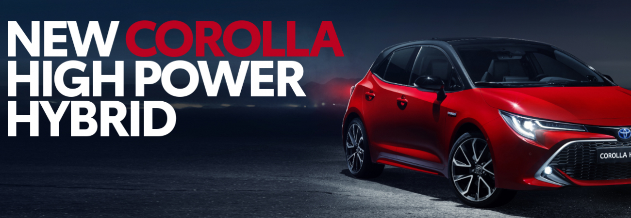 Banner In de showroom: nieuwe Corolla