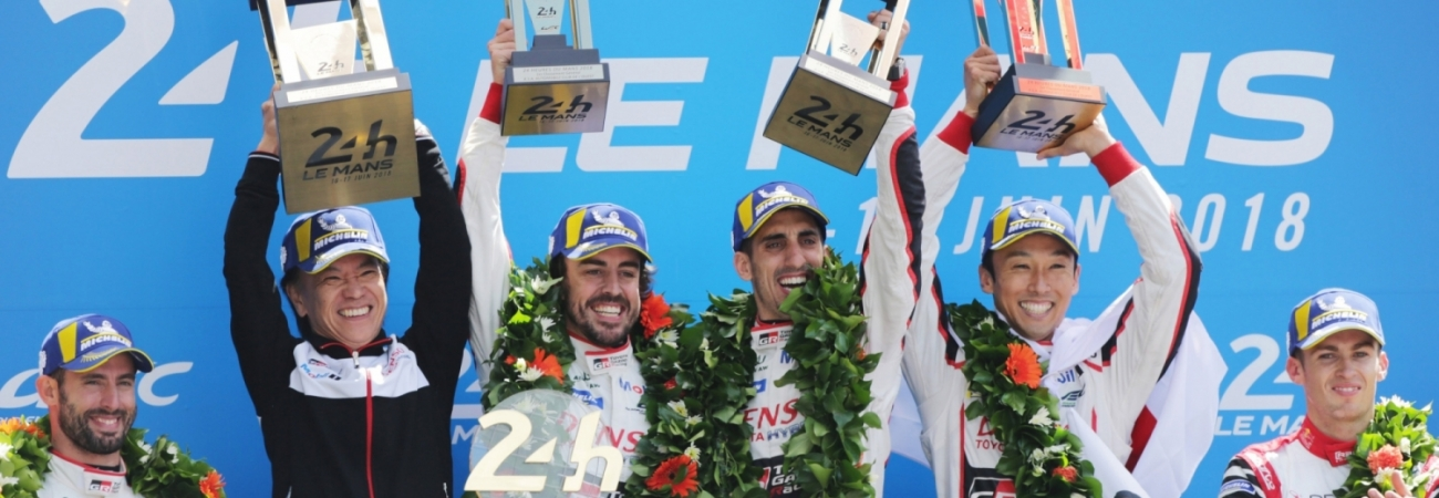 Banner Toyota wint Le Mans 2018