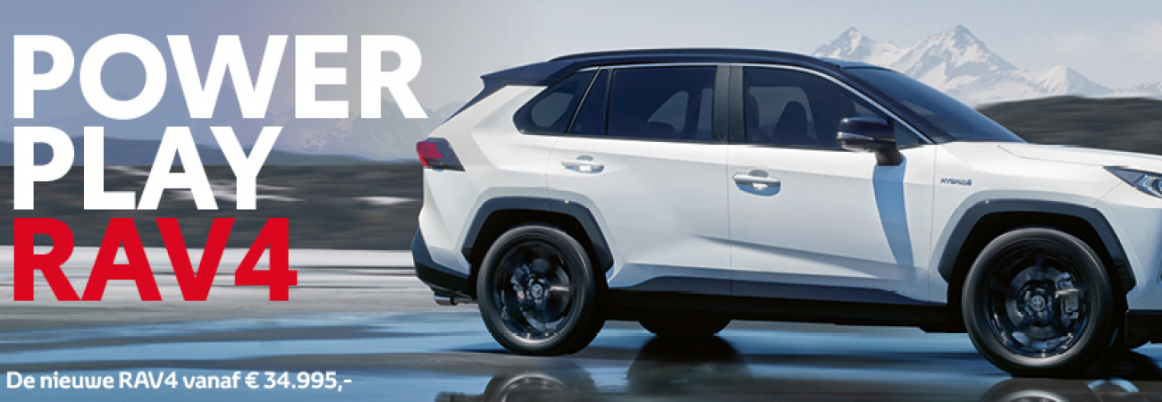 Banner In de showroom: nieuwe RAV4