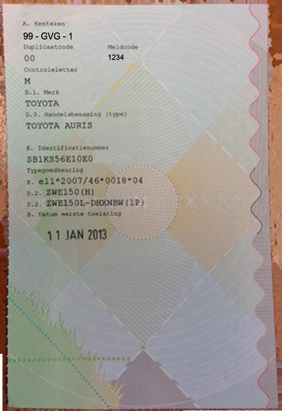 Veelgestelde vragen over het kentekenbewijs - Van Gent